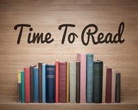 Time To Read - Wood Background Color Fine-Art Print