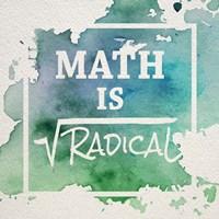Math Is Radical Watercolor Splash Green Fine-Art Print
