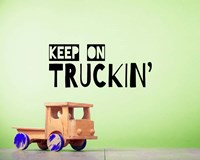 Keep On Truckin' Green Fine-Art Print