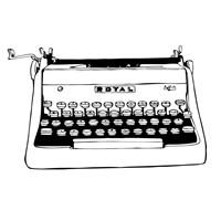 BW Vintage Typewriter Fine-Art Print