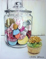 Cupcake And Wrappers Fine-Art Print