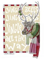 Reindeer With Scarf Fine-Art Print