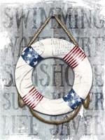 Life Preserver Patriotic Nautical Fine-Art Print