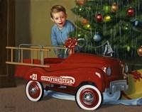 1950 Murray Fire Truck Fine-Art Print