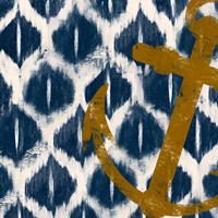 Nautical Ikat I Fine-Art Print