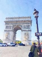 Watercolor Streets of Paris I Fine-Art Print