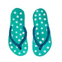 Polka Dot Flip Flops I Fine-Art Print