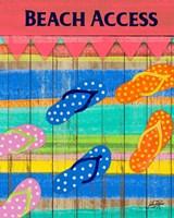 Colorful Beach Access Fine-Art Print