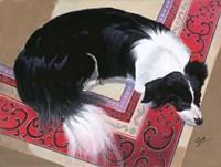 Dog on a Rug Fine-Art Print