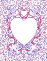Lace Doves and Ribbon Fine-Art Print