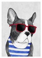 Frenchie Summer Style Fine-Art Print