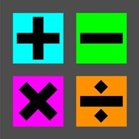 Math Symbols Square - Colorful Boxes Fine-Art Print