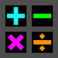 Math Symbols Square - Colorful Symbols Fine-Art Print