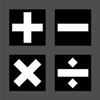 Math Symbols Square - Black Fine-Art Print
