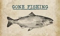 Gone Fishing Salmon Black and White Fine-Art Print