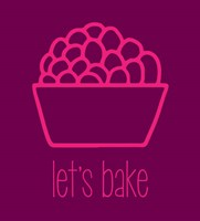 Let's Bake - Dessert II Magenta Fine-Art Print
