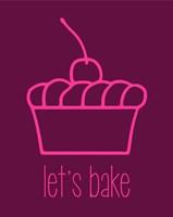 Let's Bake - Dessert I Magenta Fine-Art Print