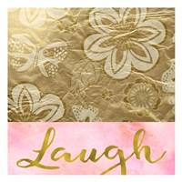 Laugh Golden Flowers Fine-Art Print