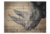 Stone Wall Rhino Fine-Art Print