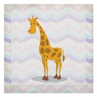 Pink Giraffe Time Fine-Art Print