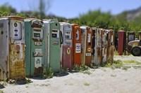 Vintage Gas Pumps Tilt Fine-Art Print