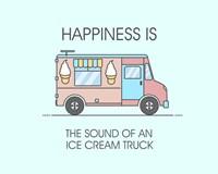 Ice Cream Truck Pink Fine-Art Print