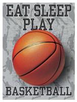 Eat Sleep Play Basketball Fine-Art Print
