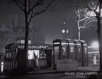 Night Time Coffee, London Fine-Art Print