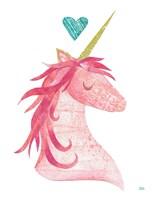 Unicorn Magic I Heart Fine-Art Print