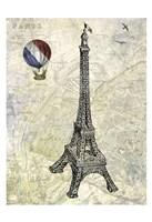 Eiffel Map Fine-Art Print
