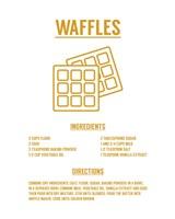 Waffle Recipe Yellow on White Fine-Art Print