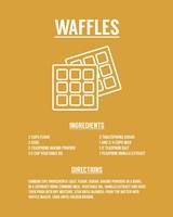 Waffle Recipe White on Yellow Fine-Art Print