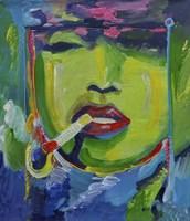 Madonna Smoking Fine-Art Print
