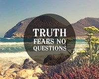 Truth Fears No Questions - Sea Shore Fine-Art Print