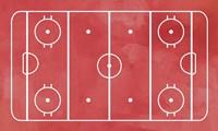 Ice Hockey Rink Red Paint Fine-Art Print