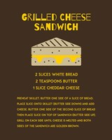Grilled Cheese Sandwich Recipe Brown Fine-Art Print