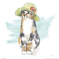 Fancy Cats III Watercolor Fine-Art Print