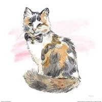 Fancy Cats II Watercolor Fine-Art Print