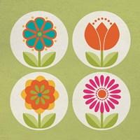 Groovy Blooms I Fine-Art Print