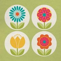 Groovy Blooms II Fine-Art Print