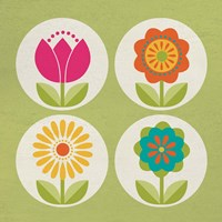 Groovy Blooms III Fine-Art Print