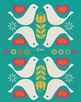 Groovy Doves Fine-Art Print