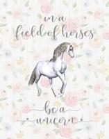 Be a Unicorn Floral Fine-Art Print