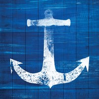 Blue and White Anchor Fine-Art Print