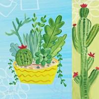 Cacti Garden IV no Birds and Butterflies Fine-Art Print