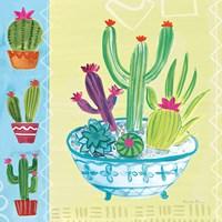 Cacti Garden III no Birds and Butterflies Fine-Art Print