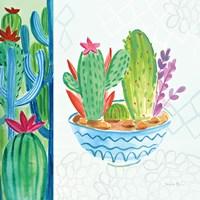 Cacti Garden II no Birds and Butterflies Fine-Art Print