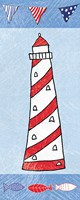 Coastal Lighthouse II on Blue Fine-Art Print