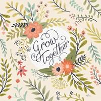 Retro Garden V Fine-Art Print