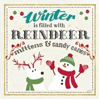Winter Wonderland I on White Fine-Art Print